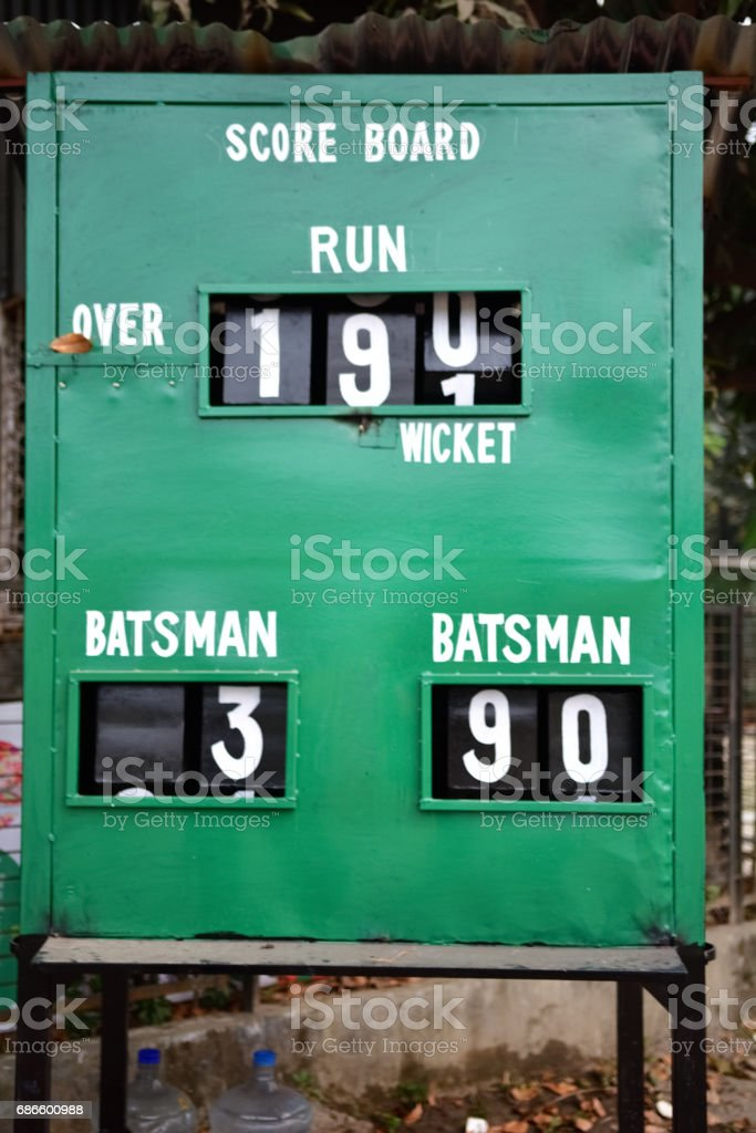 Cricket scoreboard Lizenzfreies stock-foto
