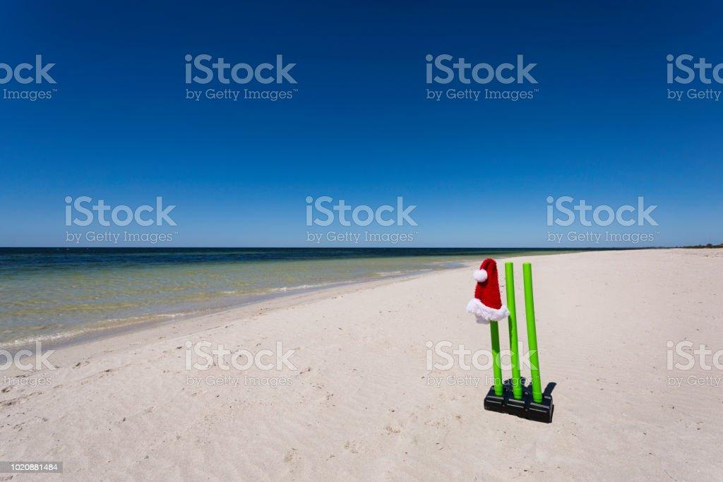 Cricket Wickets am Weihnachtstag. – Foto