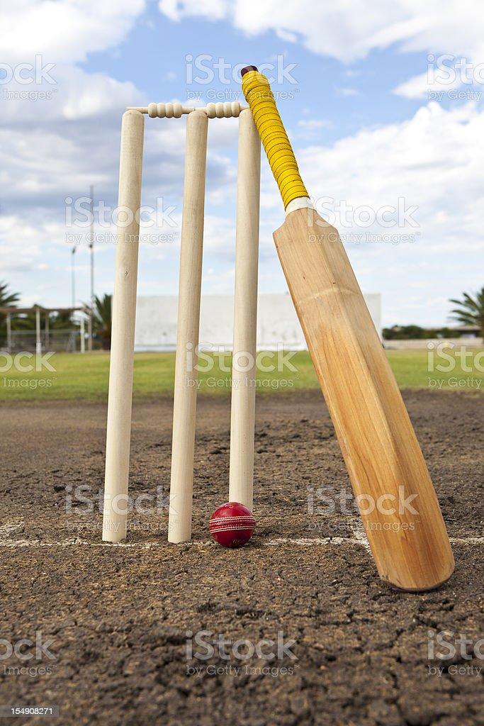 Cricket Wicketsball And Bat stock photo 154908271 | iStock