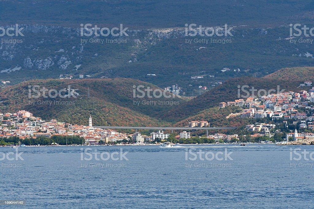 Crikvenica cidade, Croácia - foto de acervo