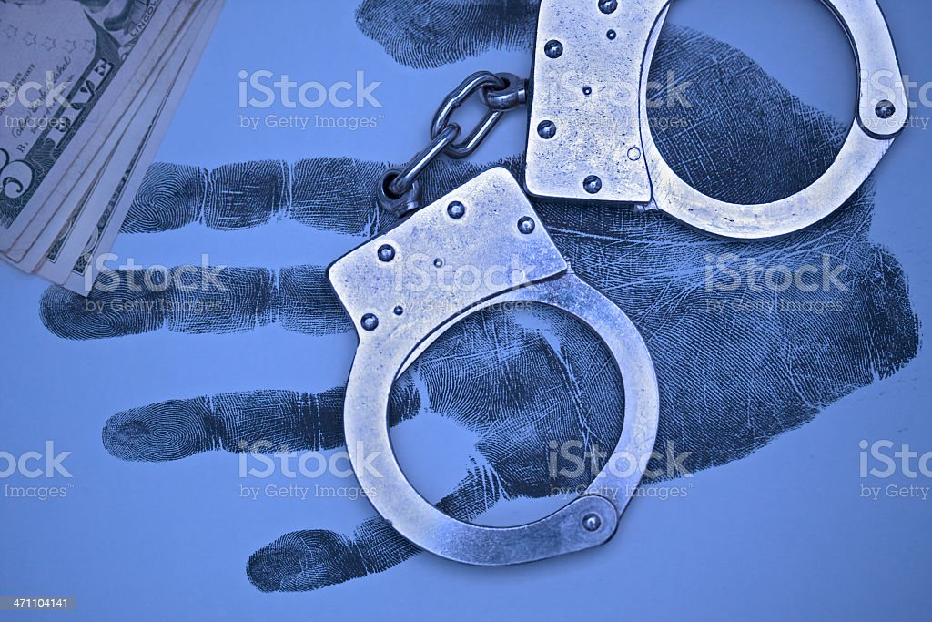 Crime does not pay. Toned image. royalty-free stock photo