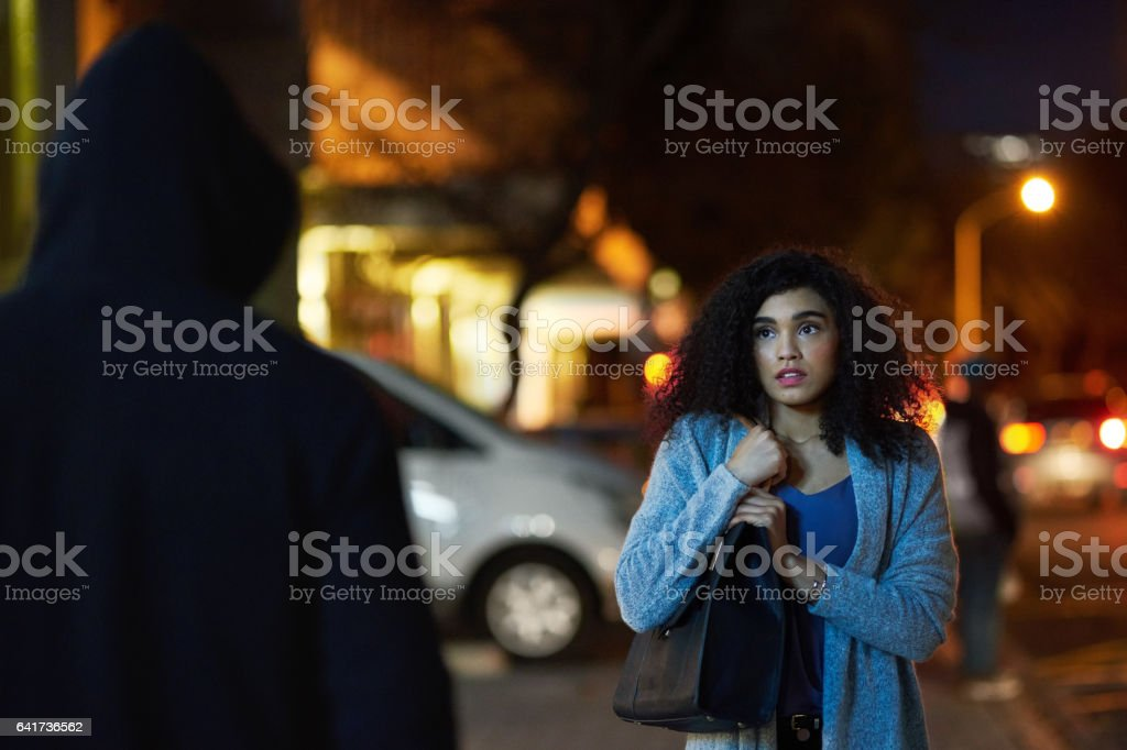 Crime has become quite widespread in the city stock photo