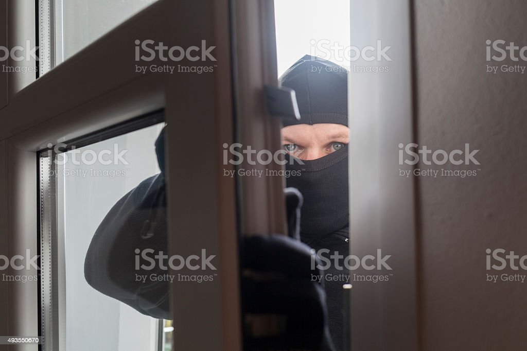 Crime in progress stock photo