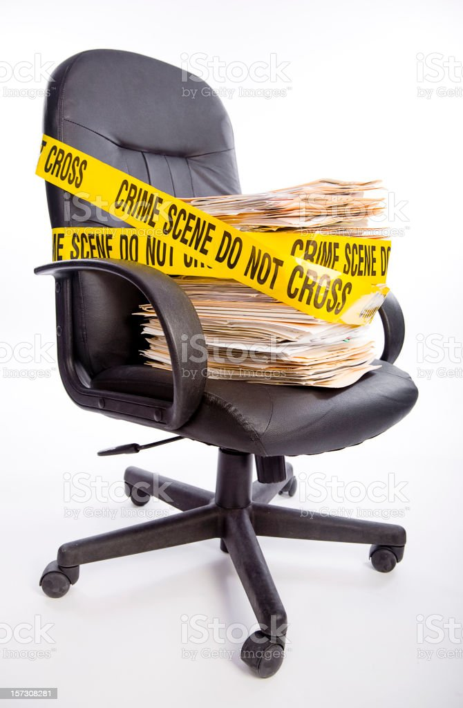 Crime in the Office royalty-free stock photo