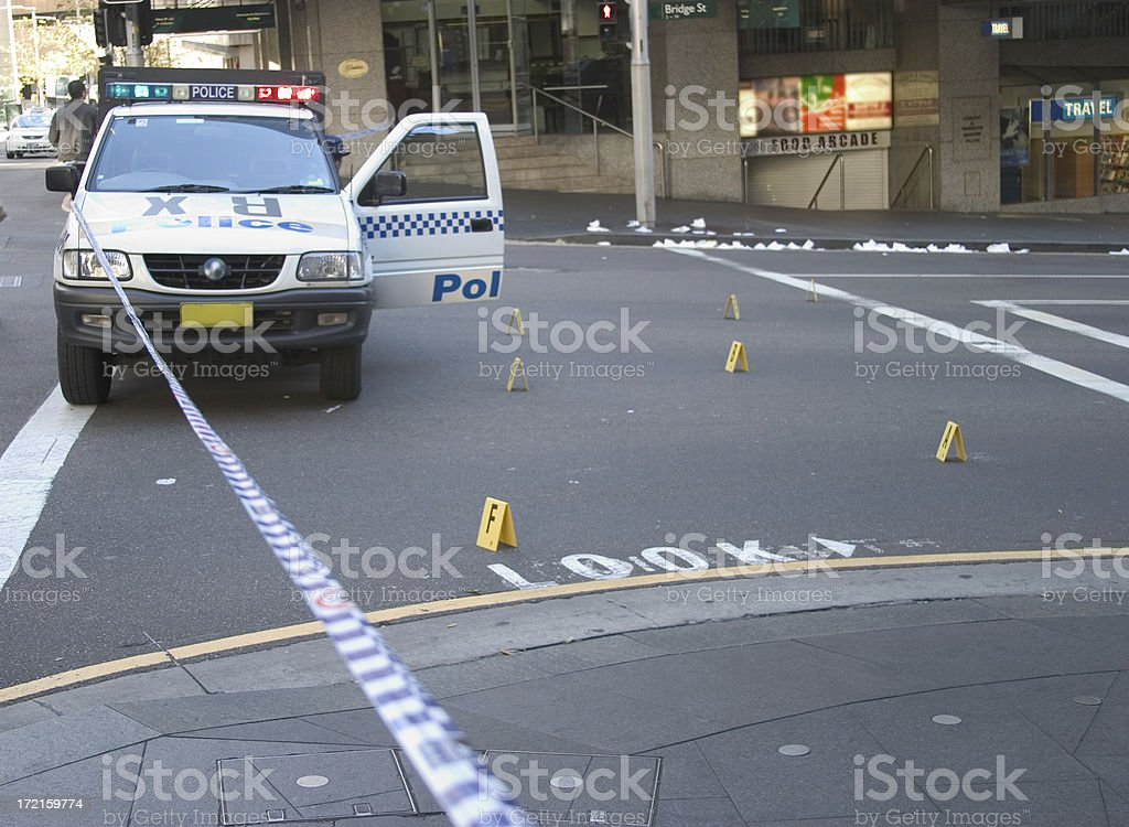 Crime Scene 1 royalty-free stock photo