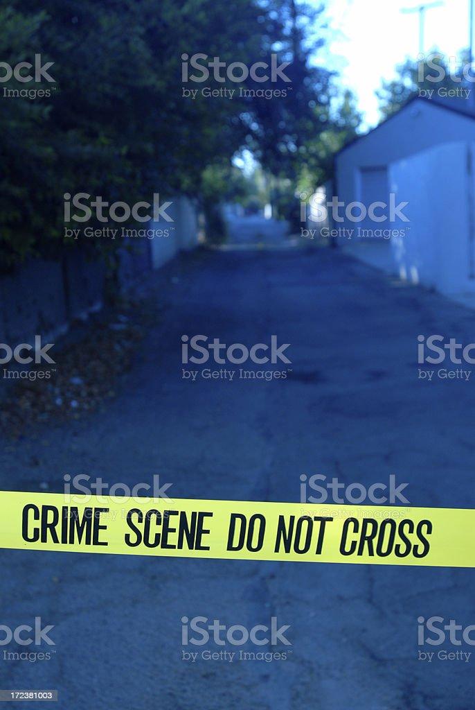 Crime Scene Alley royalty-free stock photo