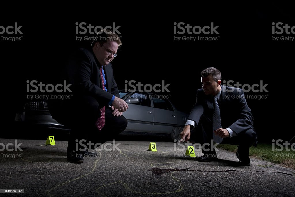 Crime Scene Analysis stock photo