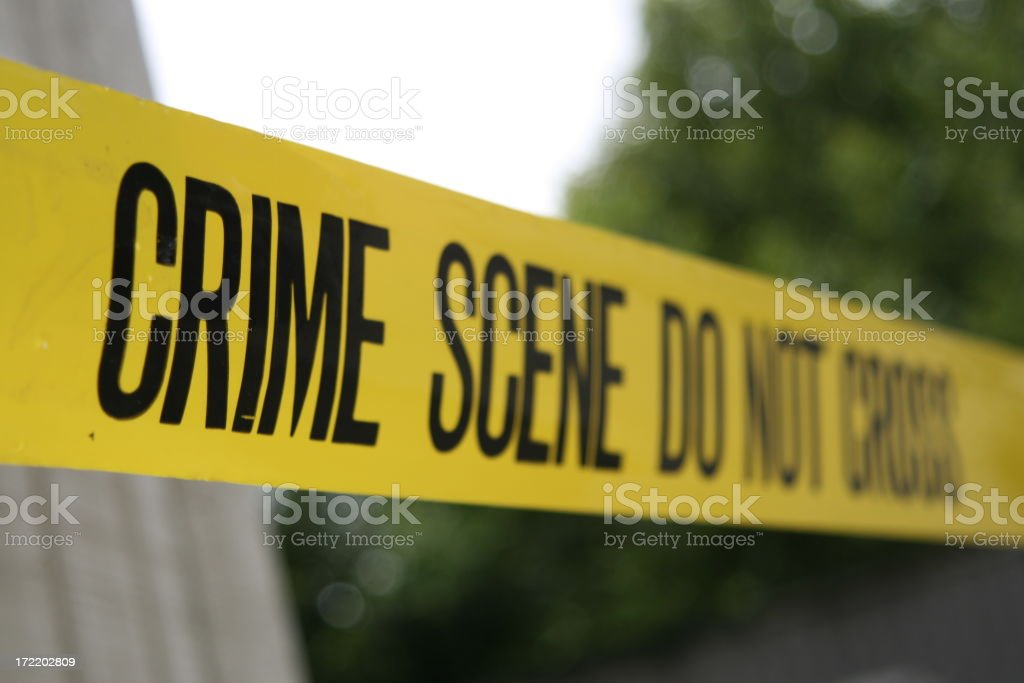 Crime Scene and trees royalty-free stock photo