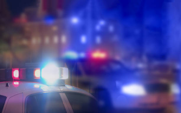 Crime scene blurred law enforcement and forensic background Crime scene blurred law enforcement and forensic background crime stock pictures, royalty-free photos & images