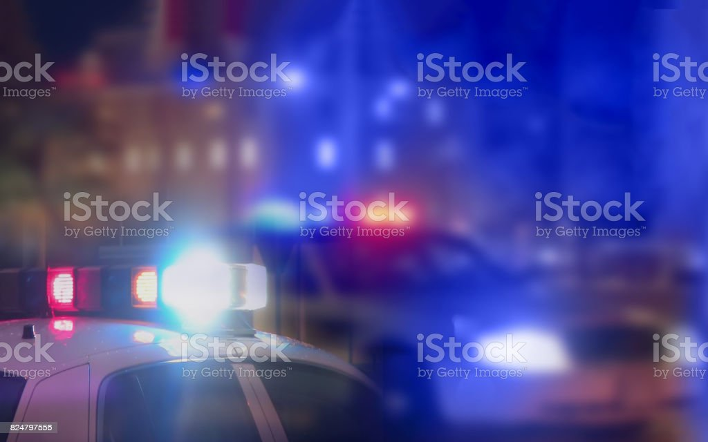 Crime scene blurred law enforcement and forensic background stock photo