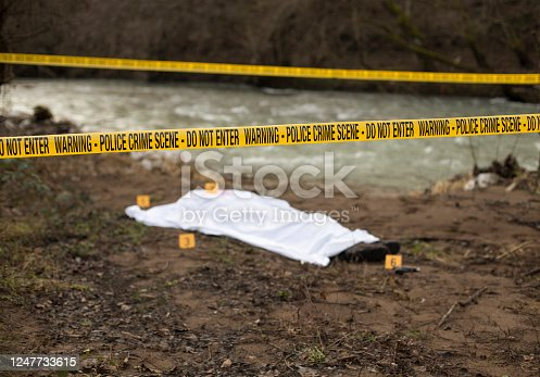 Crime scene by the river