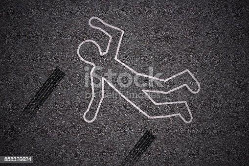 istock crime scene - car accident 858326624