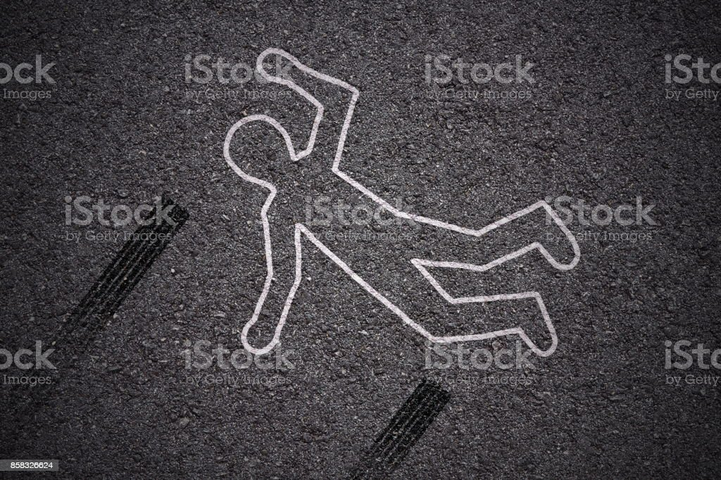 crime scene - car accident stock photo
