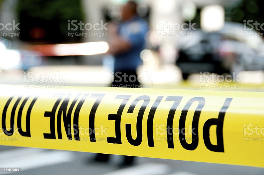 Crime Scene Containment royalty-free stock photo
