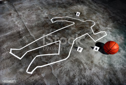 istock Crime scene - Death of a basketball player 155395371