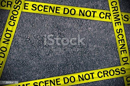 Crime Scene Do Not Cross, Yellow Police Ribbon.