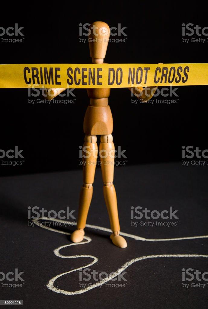 Место преступления рисунок Стоковые фото Стоковая фотография