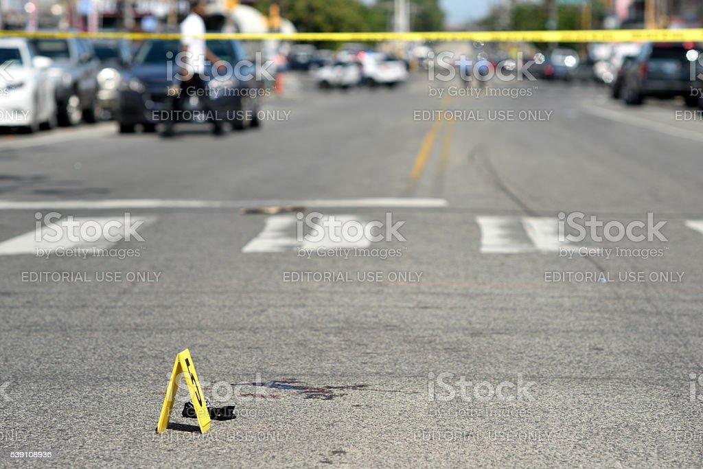 Crime Scene in North Phialdelphia, Pennsylvania stock photo