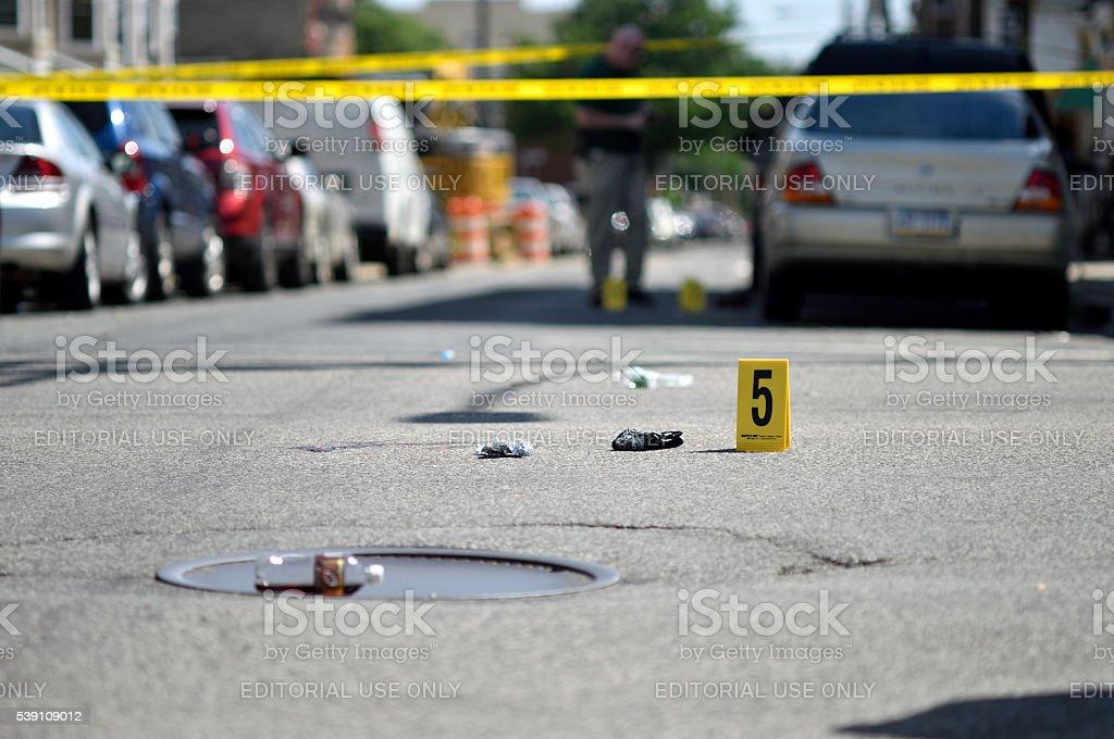 Crime Scene in North Phialdelphia, Pennsylvania royalty-free stock photo