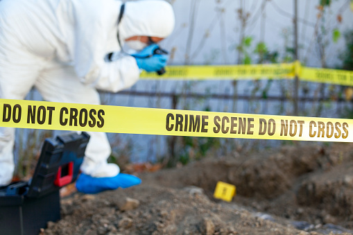 Forensic science specialist at work