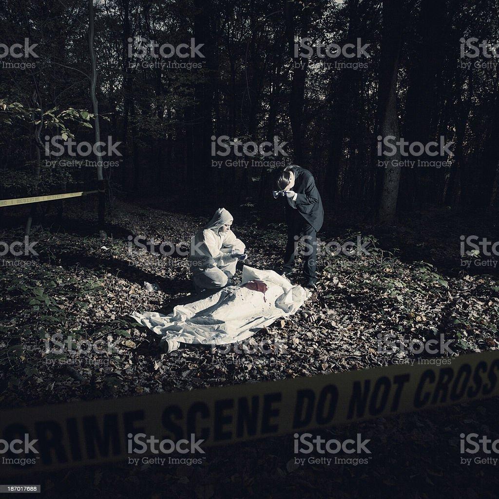 Crime Scene Investigation royalty-free stock photo