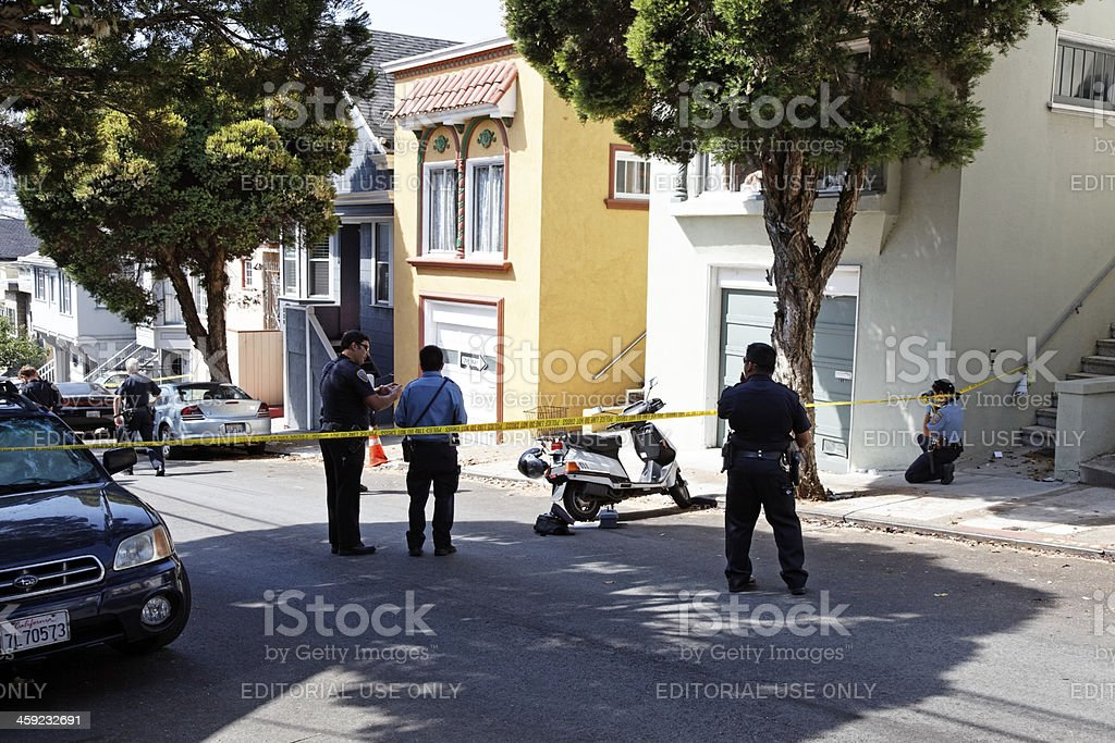 Crime Scene Investigation stock photo