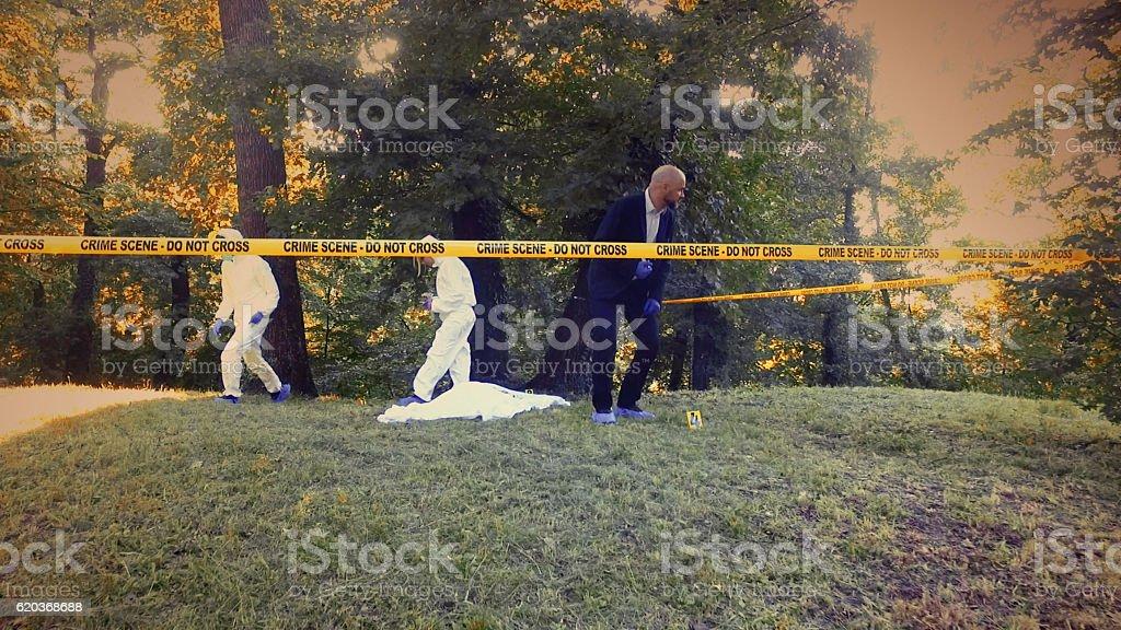 Miejsce zbrodni dochodzenia  zbiór zdjęć royalty-free