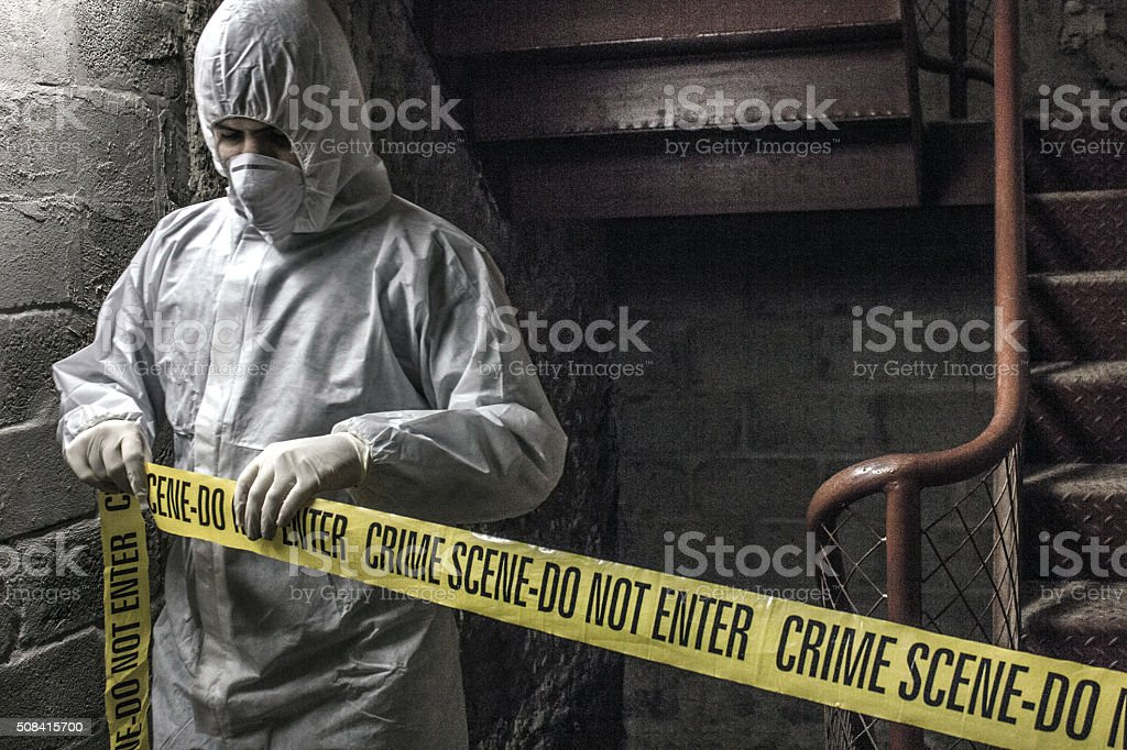 Crime Scene Investigator stock photo