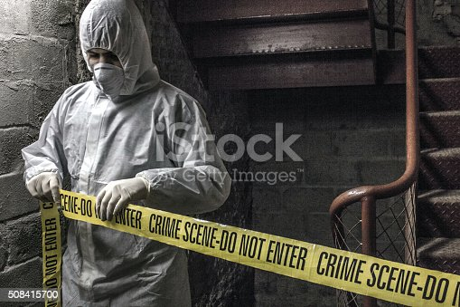 Crime Scene Investigator Stock Photo & More Pictures of Adult
