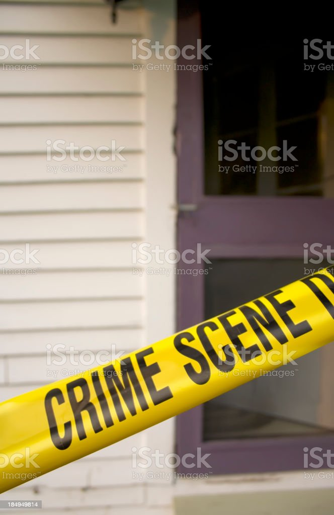 Crime Scene Morning royalty-free stock photo
