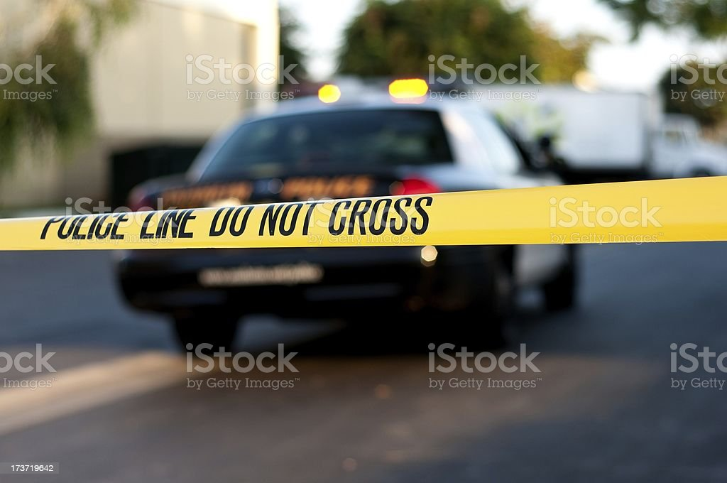crime scene royalty-free stock photo