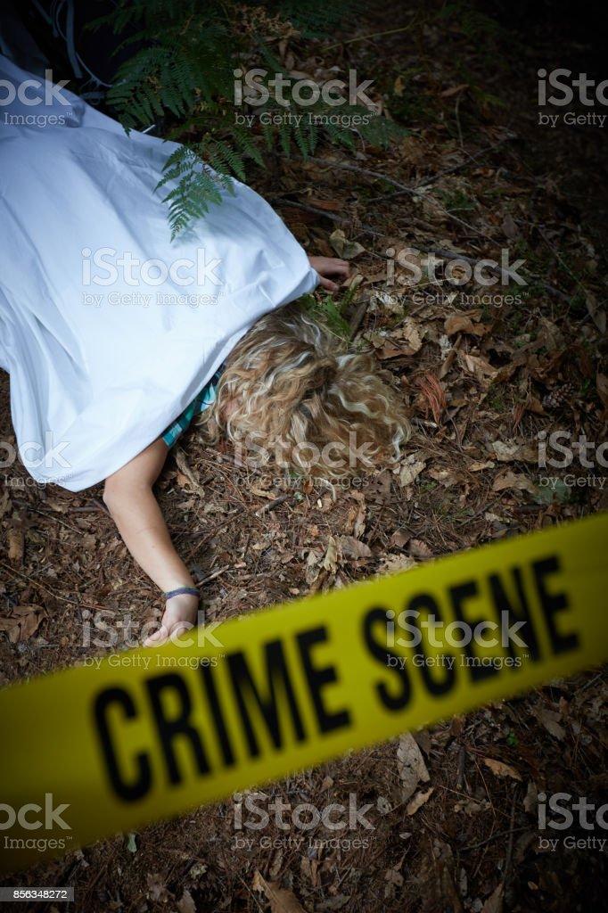 crime scene stock photo
