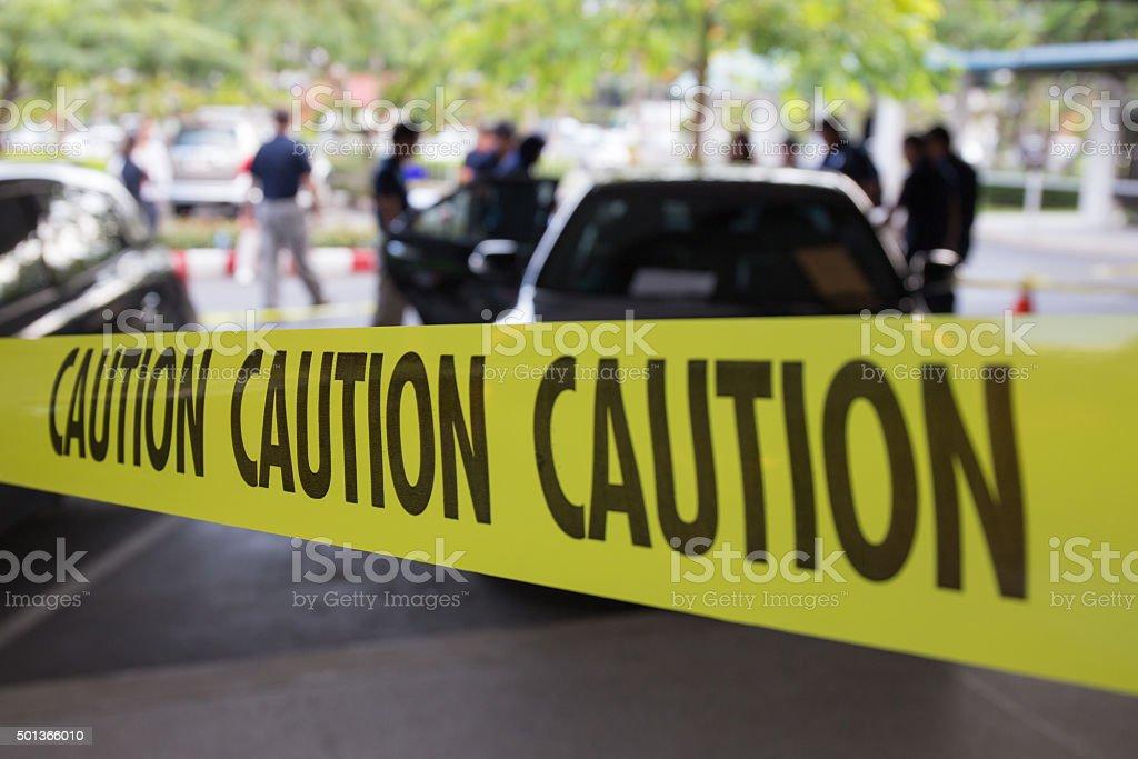 Kriminalität Szene mit Vorsicht Klebeband sichern – Foto