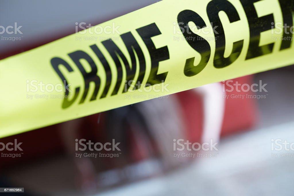 Crime Scene Reinactment stock photo