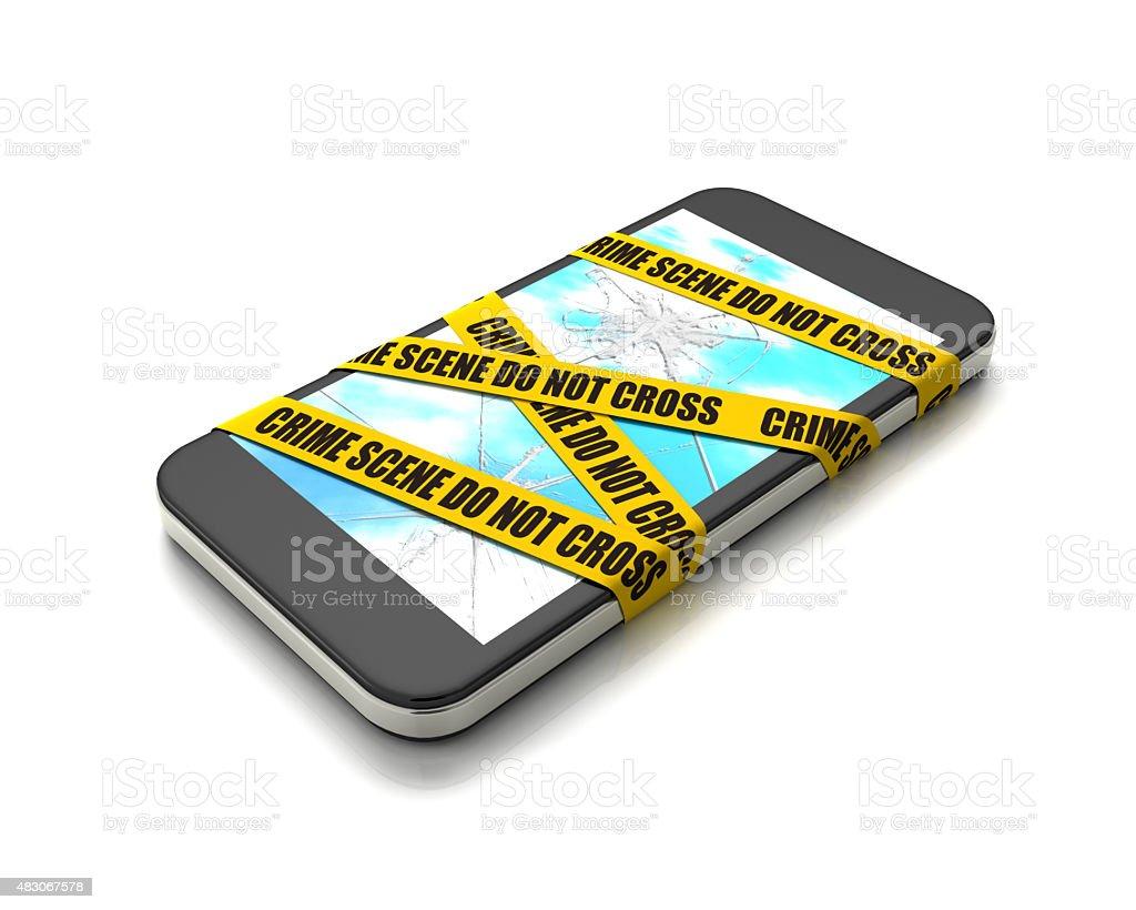 Crime scene 'Smartphone Edition' stock photo