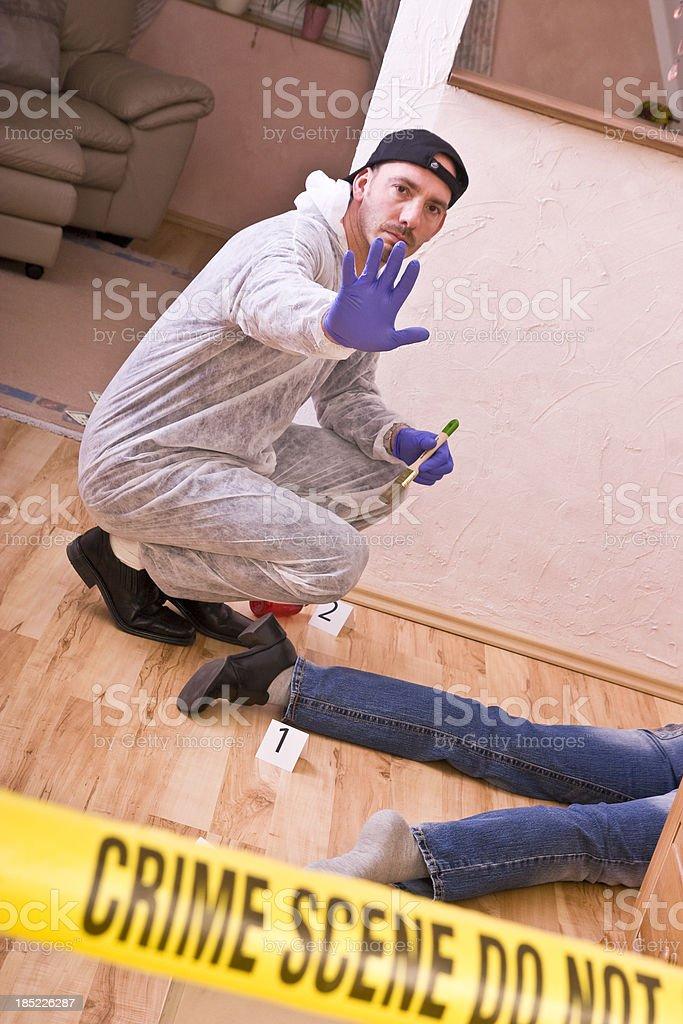 Crime Scene Stay Back royalty-free stock photo
