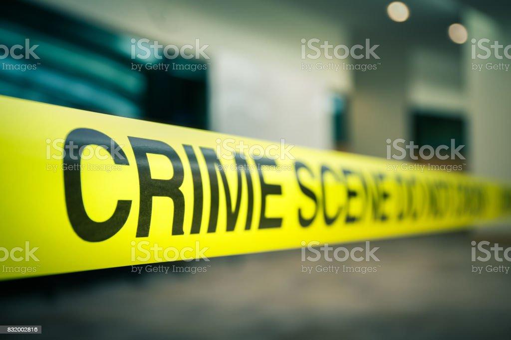 Verbrechen-Szene-Band der mysteriöse Fall in Cenematic Ton mit Textfreiraum – Foto