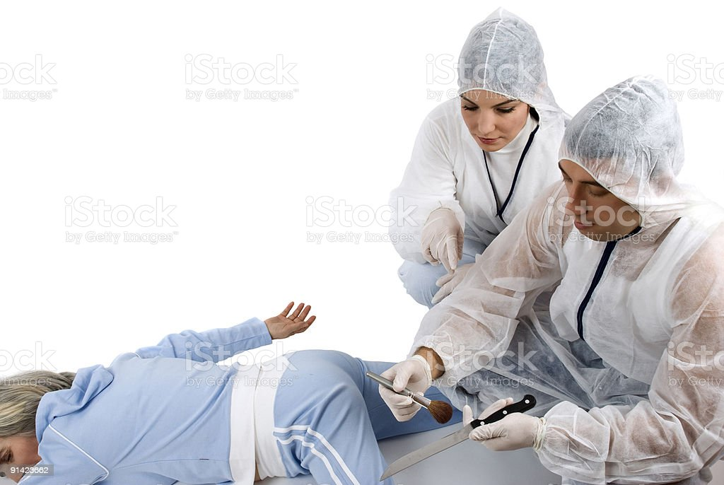 Crime scene-investigation royalty-free stock photo