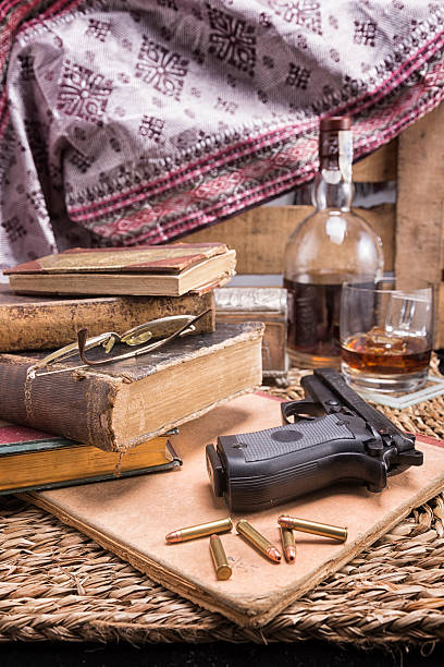 crime story concept - murder mystery stock photos and pictures