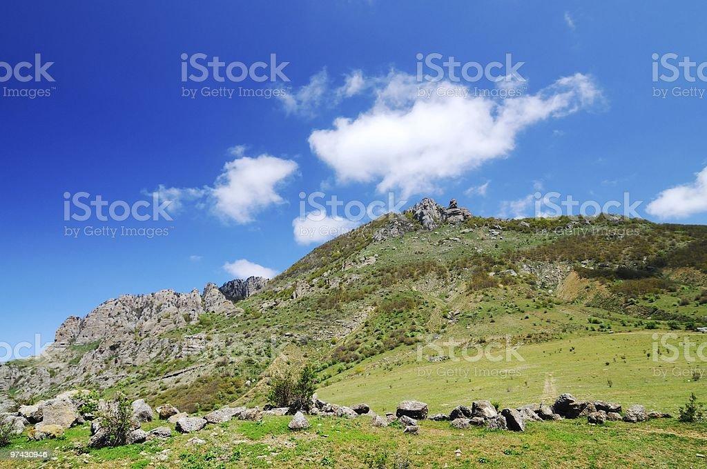 Crimea alp's royalty-free stock photo