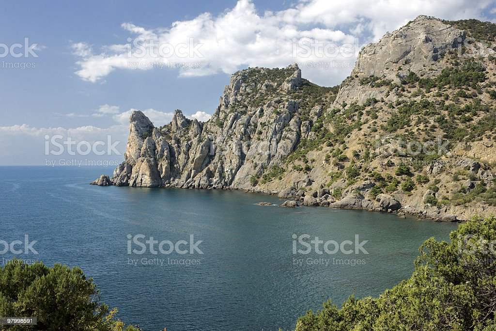 Crimea coast royalty free stockfoto