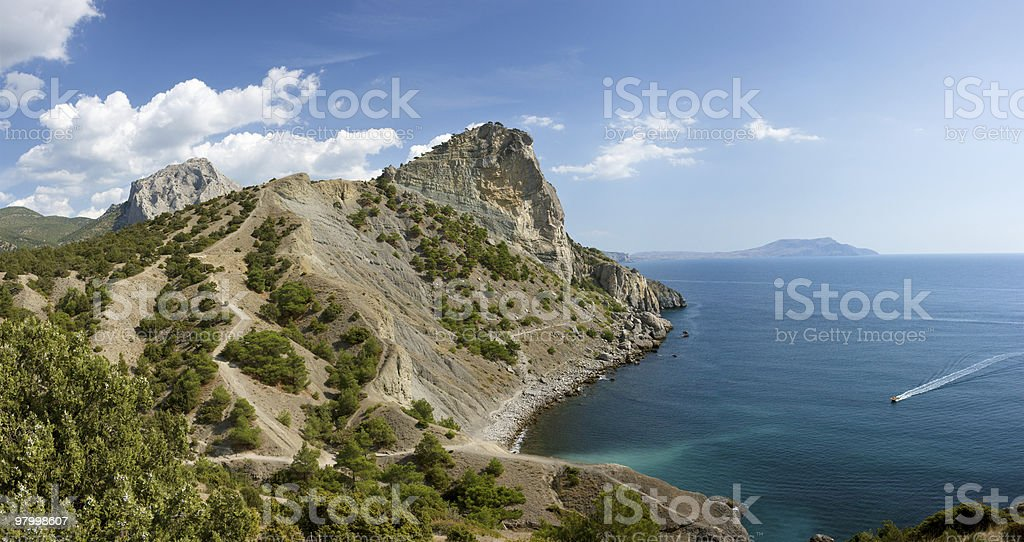Crimea coast royalty-free stock photo