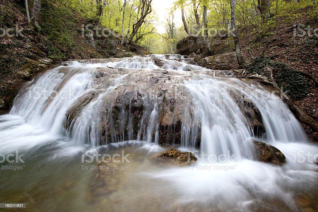 Crimea waterfall Jur-Jur royalty-free stock photo