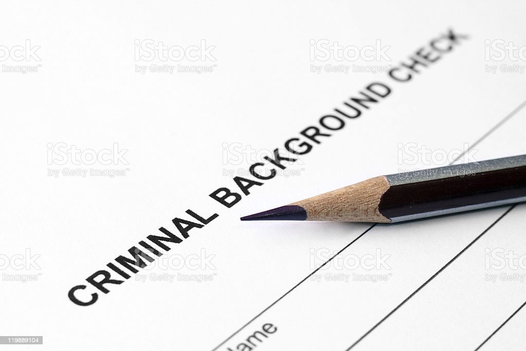 Criminal background check stock photo