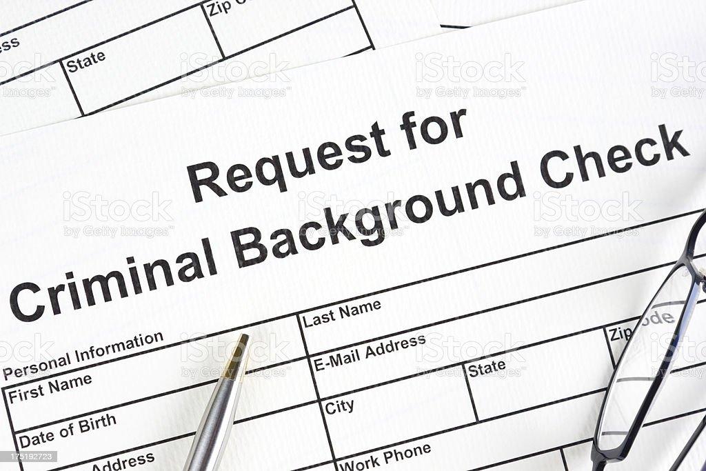 Criminal background check royalty-free stock photo