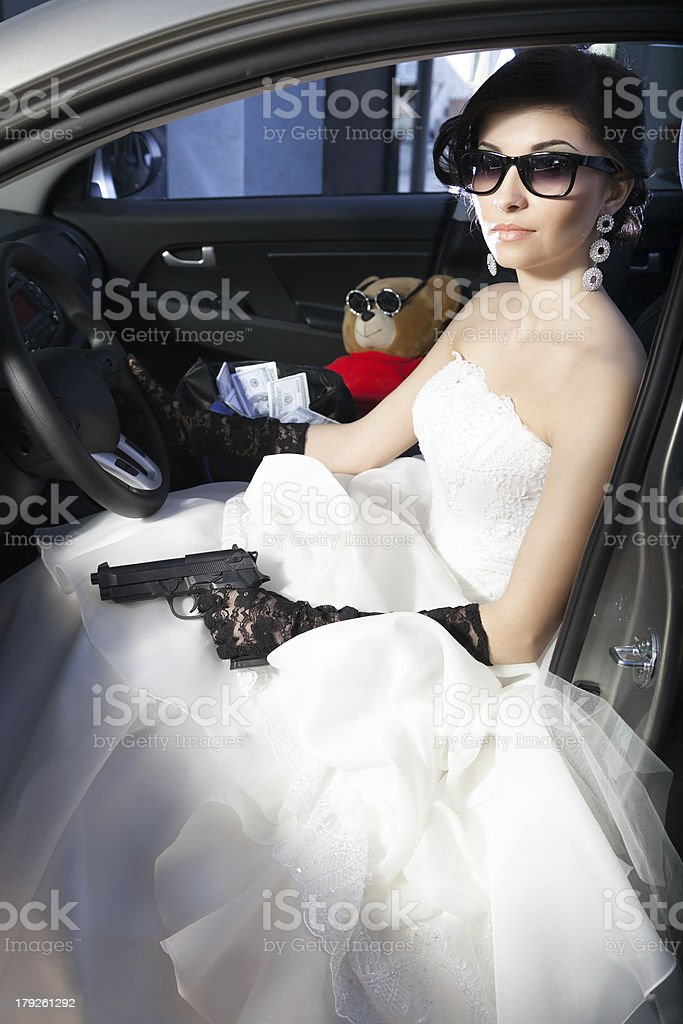 criminal bride royalty-free stock photo