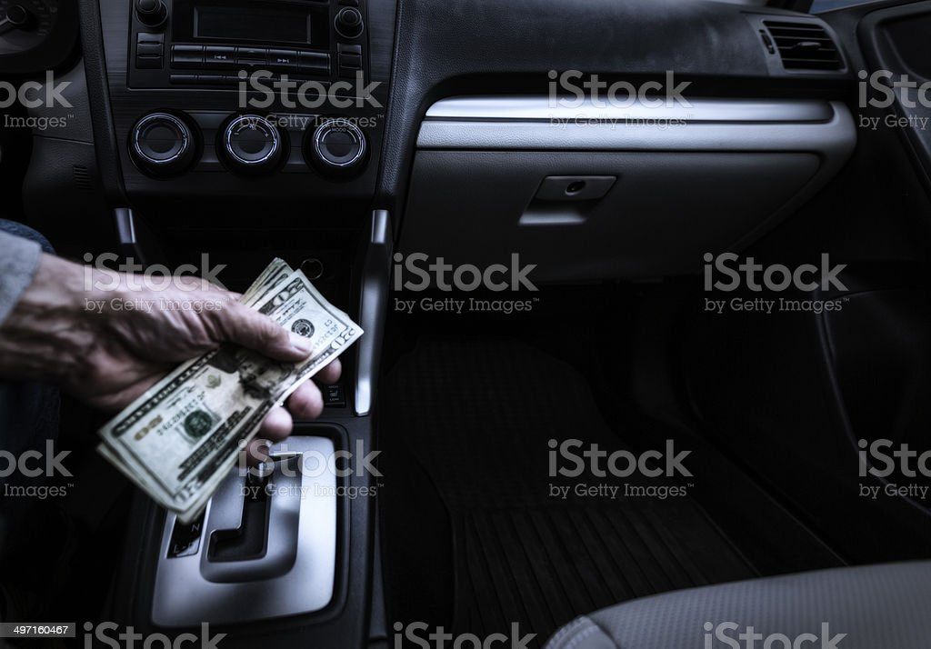 Criminal Con Man Offering Shady Money stock photo