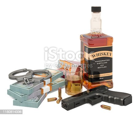 istock Criminal concept. 3D rendering isolated on white background 1150814336