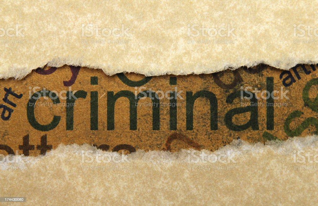 Criminal concept royalty-free stock photo
