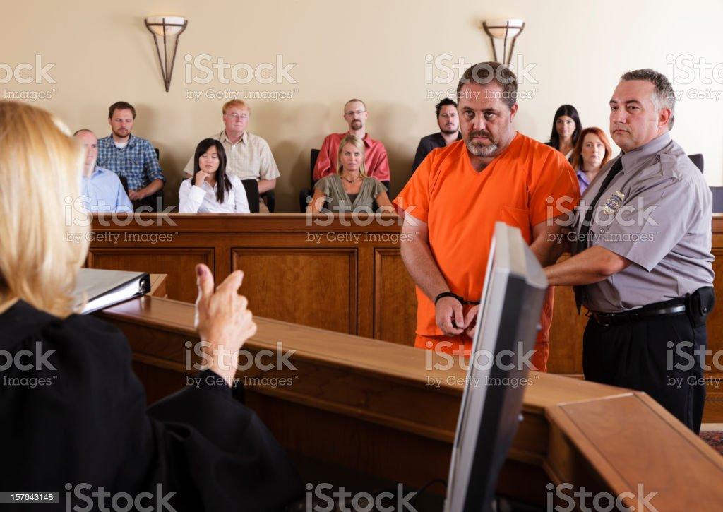 Criminal Defendant in Court stock photo